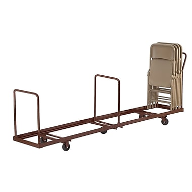 NPS® 50 Chair Capacity Vertical Storage Folding Chair Dolly, Brown