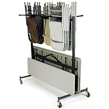 NPS® 84 Series Table and Chair Storage Truck, Dark Brown