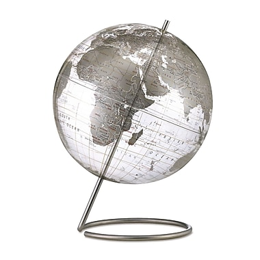 Replogle 12in. Crystal Marquise World Globe, Transparent Silver