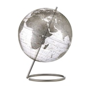"Replogle 12"" Crystal Marquise World Globe, Transparent Silver"