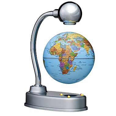 Replogle 3 1/2in. Levitating World Globe, Blue Ocean
