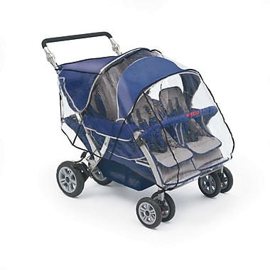 Angeles® Rain Cover For SureStop 4 Seat Commercial Bye-Bye Stroller, Clear
