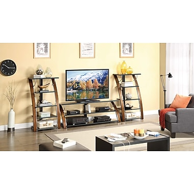 Whalen® 48in. Audio/Video Tower With 5 Shelf, Brown Cherry
