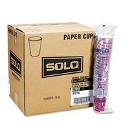 Solo® Single Sided Poly Paper Hot Cup, Bistro™/Maroon, 10 oz., 1000/Pack