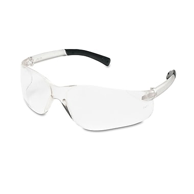 MCR Safety BearKat® Non Slip Temple Sleeve Safety Glasses, Clear Lens