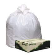 Webster Earthsense® 0.87 mil Linear Low Density Recycled Can Liner, White, 13 gal