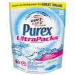 Purex® Ultrapacks Liquid Laundry Detergent, 21.6 fl oz., Free and Clear, 36 Packs/Bag, 4 Bags/Case