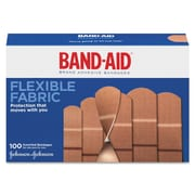 Johnson & Johnson Flexible Fabric Adhesive Bandages 100/Box