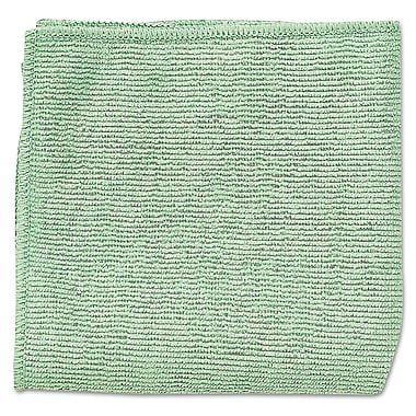 Rubbermaid Commercial® 16in.x16in. Microfiber Cleaning Cloths, Green, 24/Pack