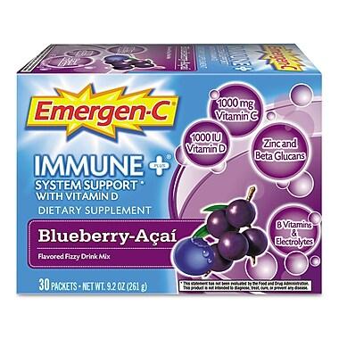 Emergen-C Vitamin C Drink Mix, Blueberry-Acai, 0.3 oz., 30 Packets/Box