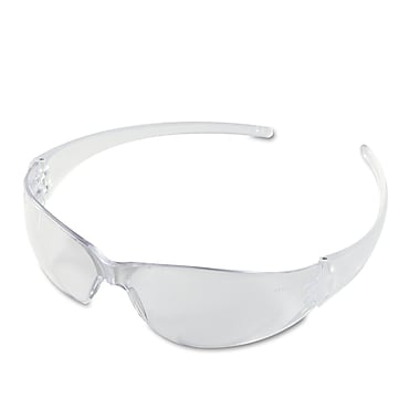 MCR Safety Checkmate® Scratch-Resistant Uncoated Safety Glasses, Clear Lens