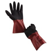 Ansell® AlphaTec® 58-530 Acrylic Lining Nitrile Coated Chemical Resistant Gloves, Burgundy, XL