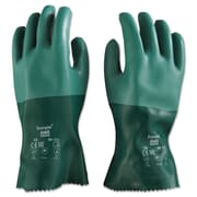 Ansell® Scorpio® 8-352 Interlock Knit Lining Neoprene Coated Chemical Resistant Gloves, Green, XL