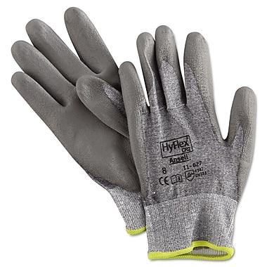Ansell® HyFlex® DSM Dyneema®/Lycra® Lining Polyurethane Coated Cut Resistant Gloves, Gray, Medium