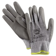 Ansell® HyFlex® DSM Dyneema®/Lycra® Lining Polyurethane Coated Cut Resistant Gloves, Gray, Medium