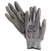 Ansell® HyFlex® DSM Dyneema®/Lycra® Lining Polyurethane Coated Cut Resistant Gloves, Gray, Large