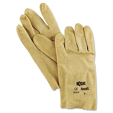 Ansell® KSR® 22-515 Interlock Knit Lining Vinyl Coated Multi-Purpose Gloves, Tan, Large