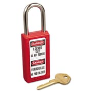 Master Lock® 411 Zenex Keyed Lockout Padlock, Red