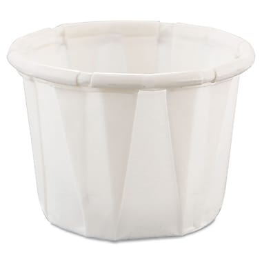 Solo® Souffle Treated Paper Portion Cup, White, 0.5 oz. 1000/Pack