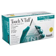 Ansellpro Touch N Tuff® Powder-Free Nitrile Disposable Gloves, Teal, Small, 100/Box