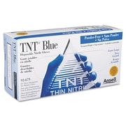 AnsellPro TNT ANS 92-675-XL Powder-Free Nitrile Disposable Gloves 100/Pack, Blue