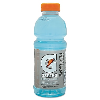 Gatorade® G Series Ready To Drink Thirst Quencher, Glacier Freeze, 20 oz. Wide Mouth Bottle, 24/Pack