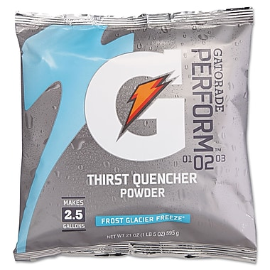 Gatorade® Powder Sports Drink Mix, Glacier Freeze, 21 oz., 32/Pack