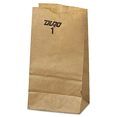 Duro Bag 3 1/2in. x 6 7/8in. #1 Kraft Grocery Bag, Brown