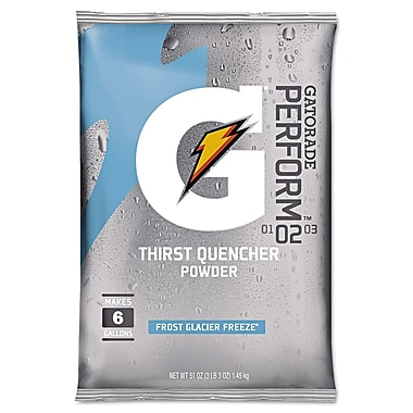 Gatorade® Powder Sports Drink Mix, Glacier Freeze, 51 oz., 14/Pack