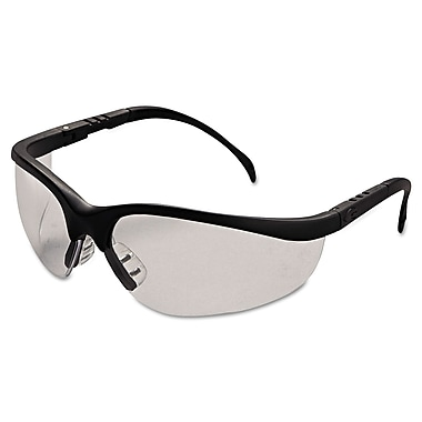 MCR Safety Klondike® Adjustable Temple Safety Glasses, Clear Lens