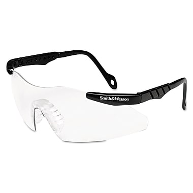 Smith & Wesson® Magnum Series Wraparound Scratch-Resistant Safety Glasses, Clear Lens
