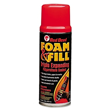 Red Devil® Foam & Fill® Triple Expanding Polyurethane Sealant, 12 oz.