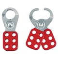 Master Lock® 420 Steel Lockout Hasp With 1in. Jaw Opening, Silver/Red