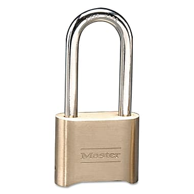 Master Lock® 175DLH Resettable Combination Padlock With 2 1/4in. Shackle, Brass