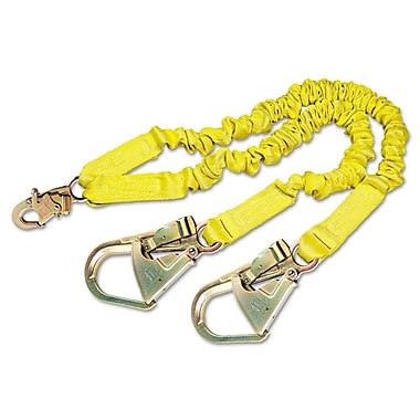DBI/Sala® ShockWave2 Shock-Absorbing Lanyard With Steel Hooks, Yellow