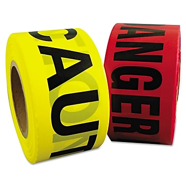 Berry Plastics 3in. x 1000' Danger Barrier Tape, Red With Black Lettering