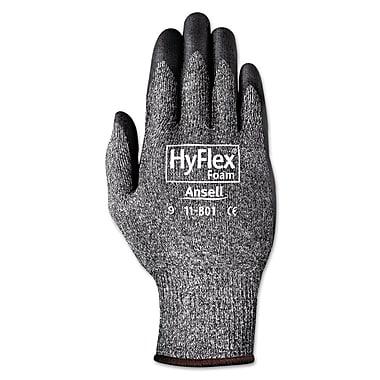 Ansell® HyFlex® 11801 Nylon Lining Foam Nitrile Coated Gloves, Dark Gray/Black, XL