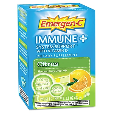 Emergen-C® Immune+® Dietary Supplement Flavoured Fizzy Drink Mix, Citrus 0.3 oz., 10 Packets