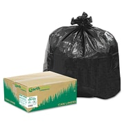 Webster Earthsense® 1.25 mil Reclaim Heavy Duty Recycled Can Liner, Black, 33 gal
