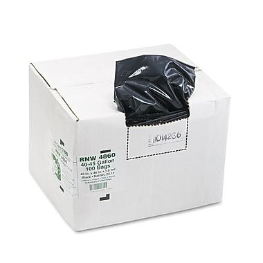 Webster Earthsense® 1.65 mil Low Density Can Liner, Black, 45 gal