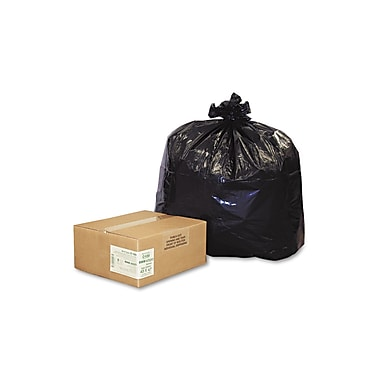 Webster Earthsense® 2 mil Linear Low Density Recycled Can Liners, Black, 56 gal