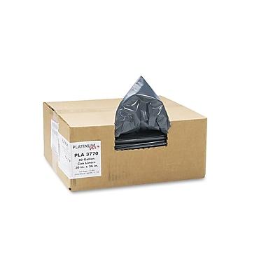 Webster Platinum Plus® 1.35 mil Linear Low Density Can Liner, Silver/Black, 30 gal
