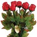 Madelaine brand Red Foiled Roses, .75 oz., 36 Roses/Order