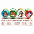 Madelaine brand Large Foiled Chocolate Clown Lolly Pops, 1 oz., 40 Pops/Display/Order