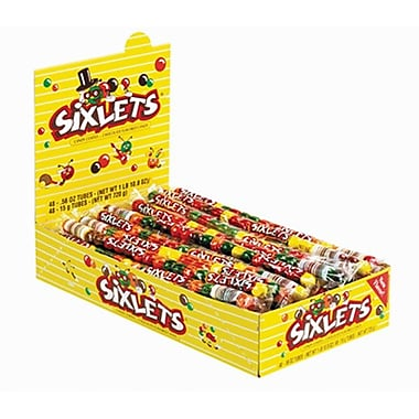 Sixlets 20-Ball Tube, 56 oz. Tube, 48 Tubes/Box