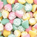 Guittard Smooth N Melty Assorted Petite Non Pareils Mints in a 5 lbs. bag