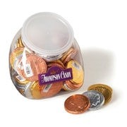 Thompson Candy Assorted Large Coins, .5 oz. Coins, 72 Coins/Tub