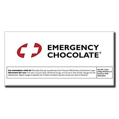Emergency Chocolate Bar, 3.5 oz., 10 Bars/Box