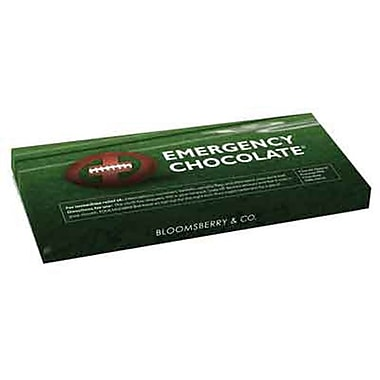 Bloomsberry Emergency Football Milk Chocolate Bar, 3.5 oz.., 10 Bars/Box