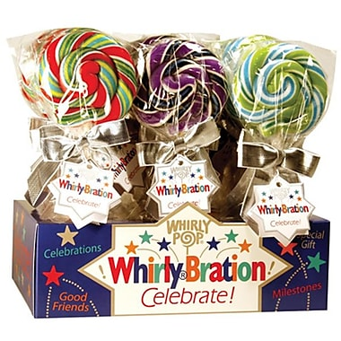 Adam & Brooks Whirly Bration Small Assorted Flavor Pops, 2.5